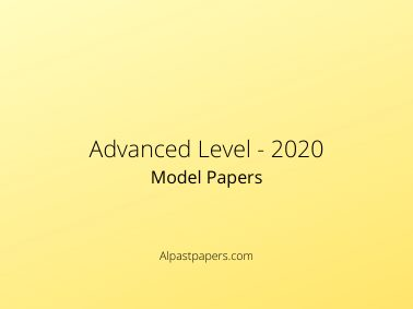 Advanced Model Papers