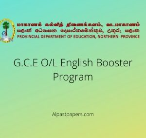 G.C.E O/L Northern Province English Booster Program