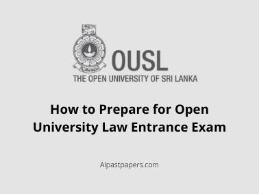How to Prepare for Open University Law Entrance Exam