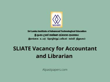 SLIATE Vacancy for Accountant and Librarian