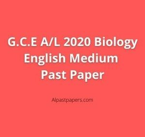 GCE-AL-2020-Biology-English-Medium-Past-Paper