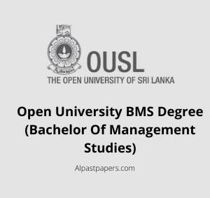 Open University BMS Degree (Bachelor Of Management Studies)