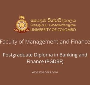 University of Colombo Department of Finance